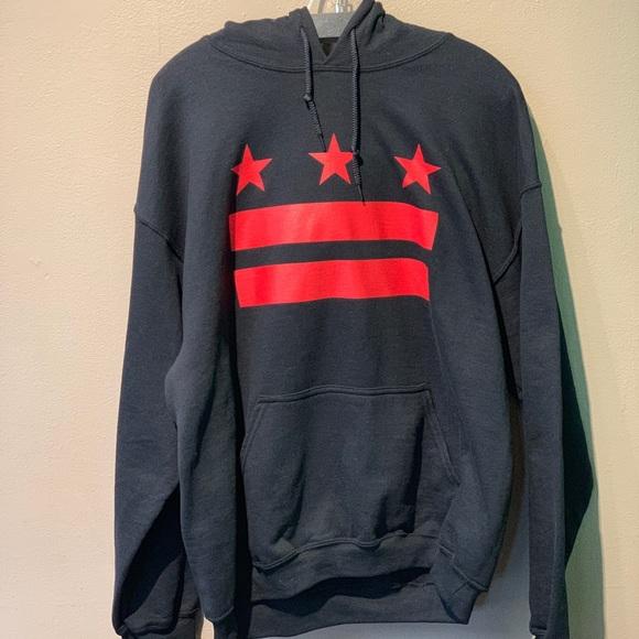 Gildan Other - New Stars & Stripes D.C. flag hoodie